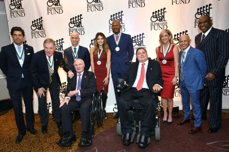 Honorees with Nick and Marc Buoniconti at the 33rd Annual Great Sports Legends Dinner,