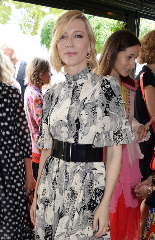 VENICE, ITALY - SEPTEMBER 01: Cate Blanchett attends a luncheon with Chopard to launch the Green Carpet Fashion Awards 2018 on September 1, 2018 in Venice, Italy. Pic Credit: Dave Benett