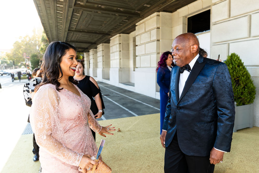 A meeting of mayors! London Breed and Willie Brown