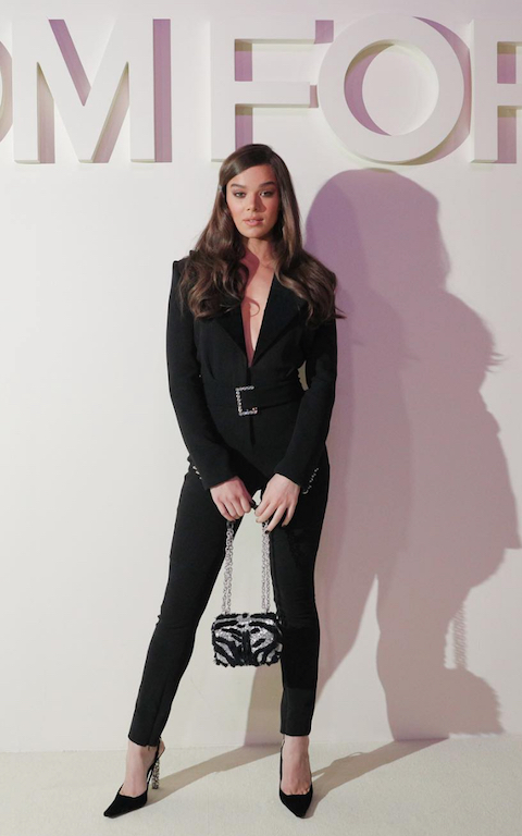 Hailee Steinfeld arriving at the Tom Ford SS19 show.