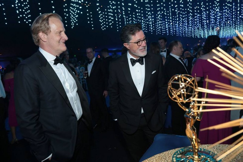 Jeff Daniels and Stephen Colbert