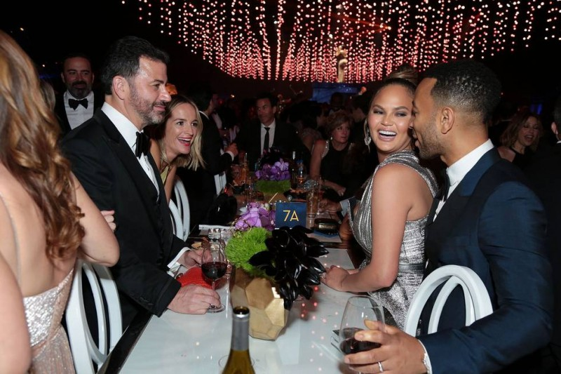 Jimmy Kimmel, Chrissy Teigen and John Legend