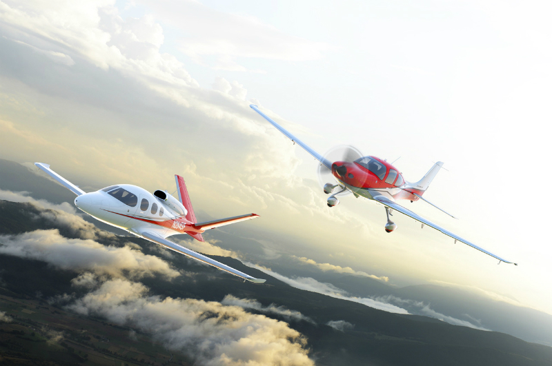 Cirrus SR22 and Vision Jet