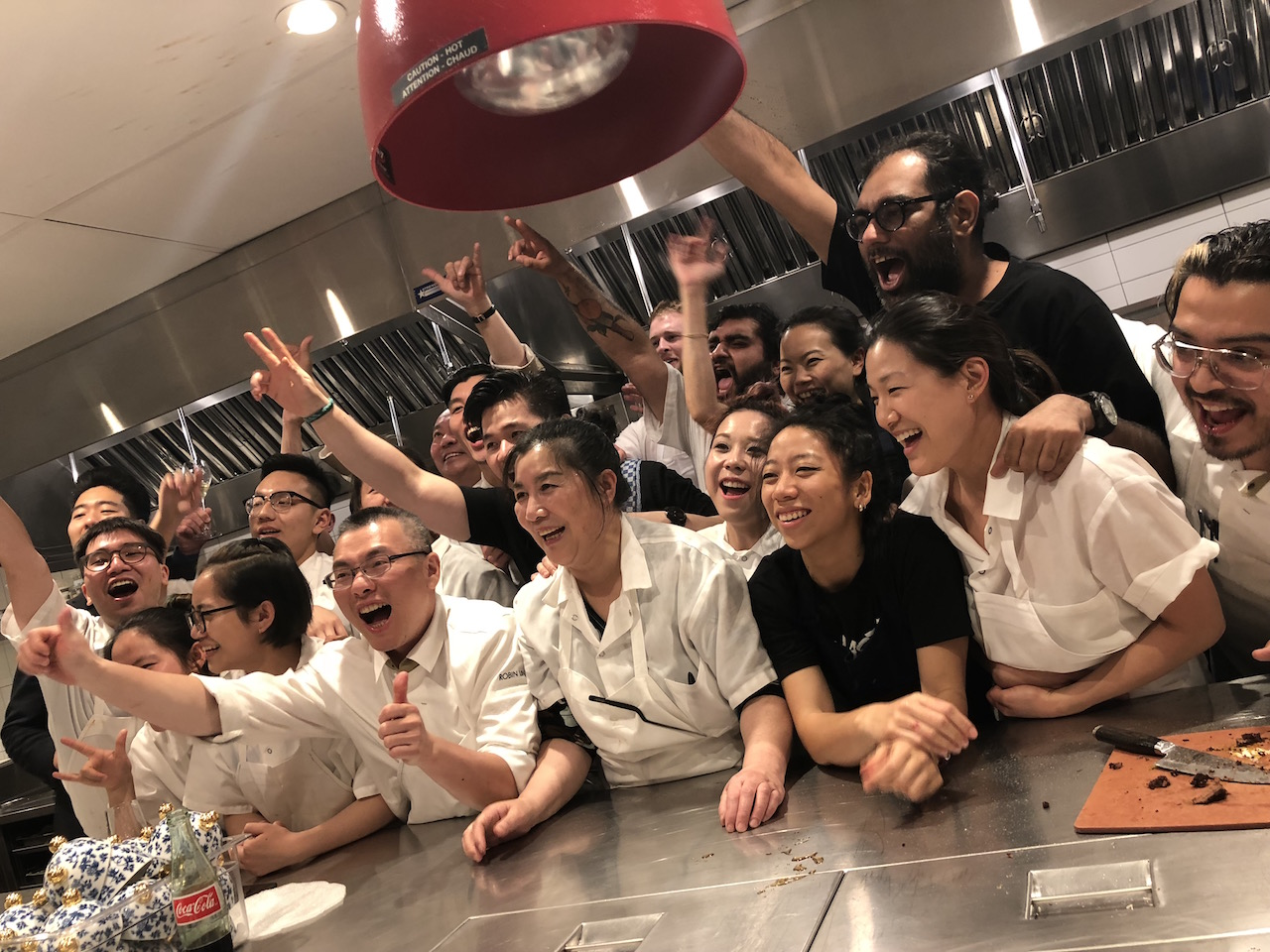 The Eight Tables and Gaggan teams in the kitchen