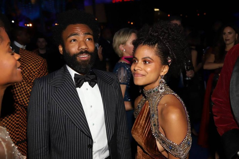 Donald Glover and Zazie Beetz