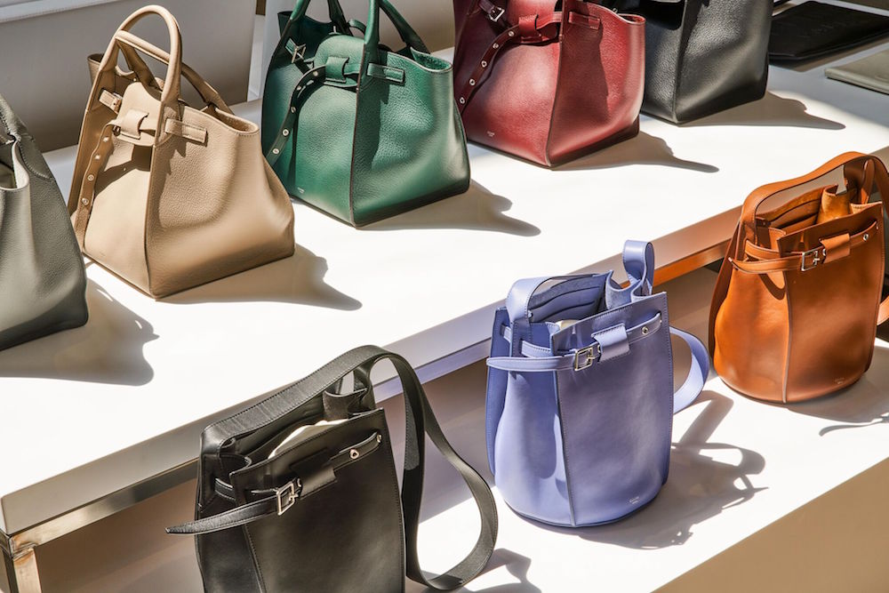Celine bags on display