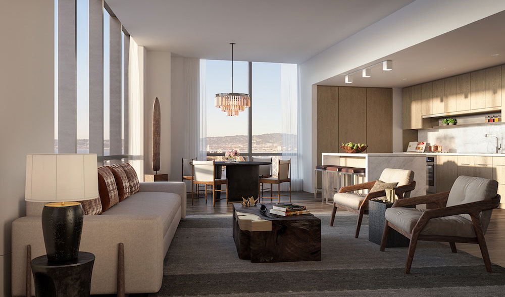 A rendering of one of the residences designed by Clodagh