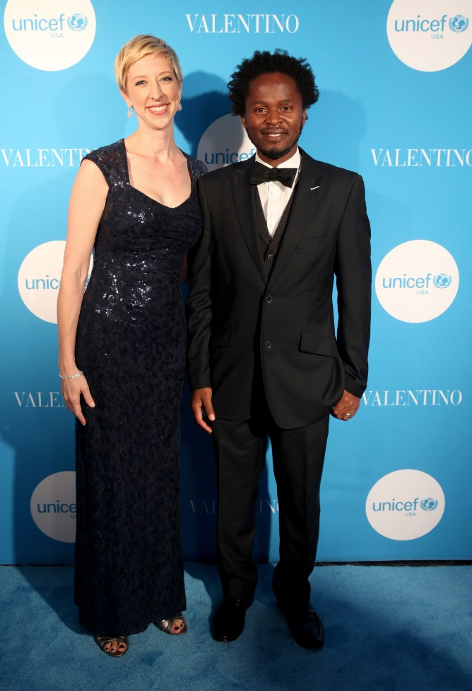 Emily Brouwer with UNICEF Goodwill Ambassador Ishmael Beah at the 2017 event