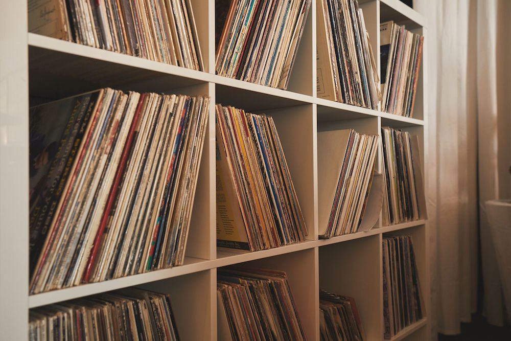 White Rabbit has an extensive record collection