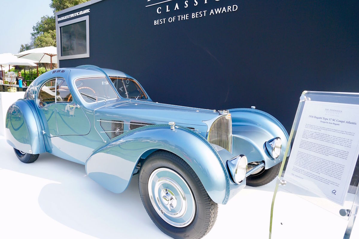 1936 Bugatti Type 57 SC Coupe Atlantic designed by Jean Bugatti