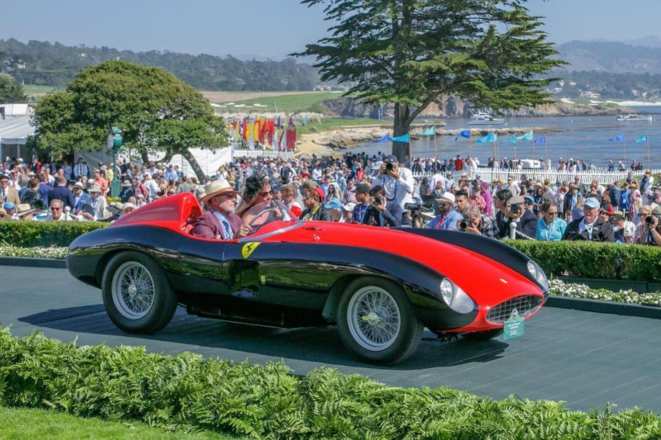 1955 Ferrari 500 Mondial Scaglietti Spyder won the First in Class of Ferrari category