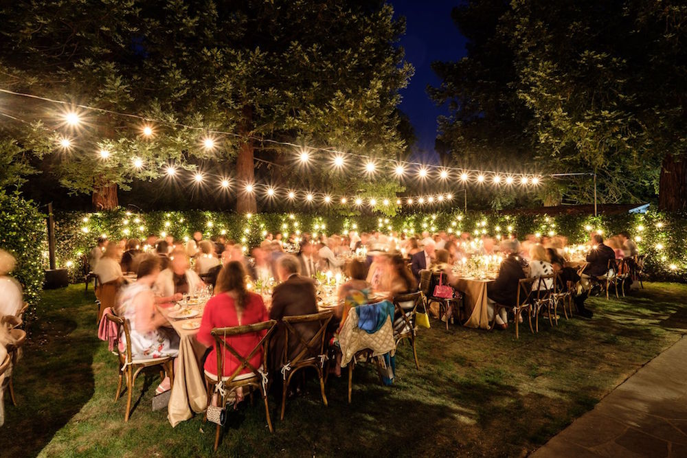 The opening night dinner at Meadowood