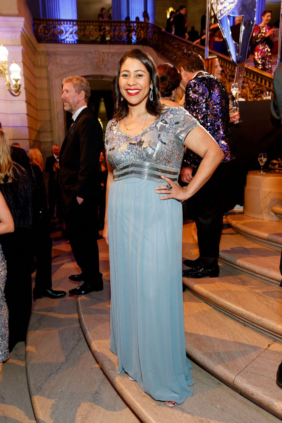 Looking gorgeous at the San Francisco Ballet Opening in January