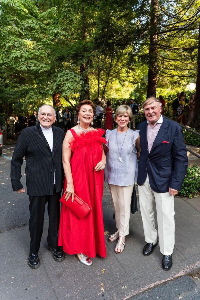 Jan Shrem, Maria Manetti Shrem, Pam and Dick Kramlich