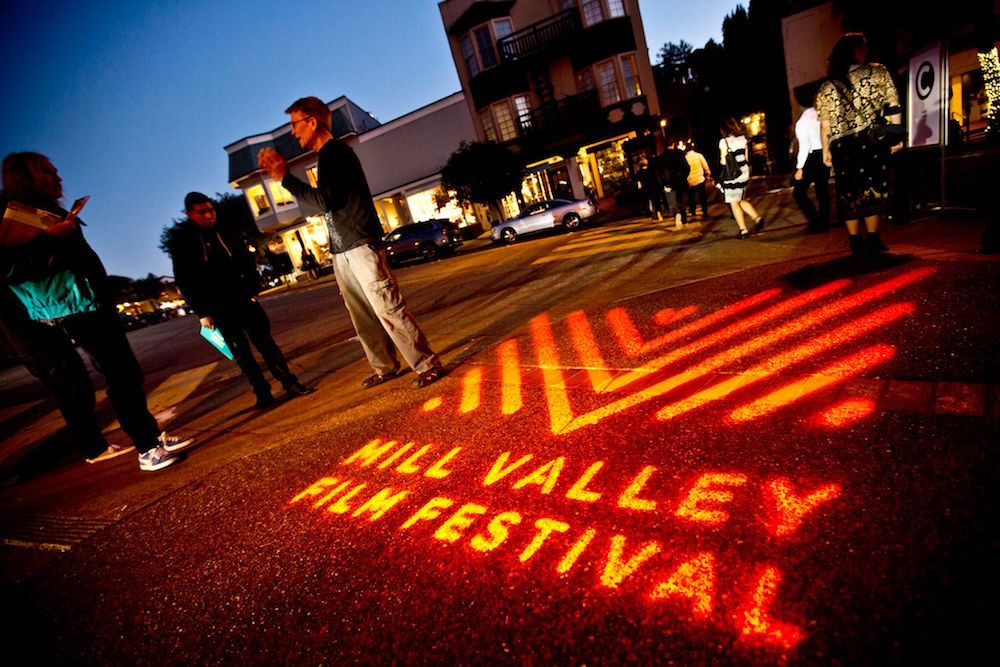 Lights, camera, action outside an event at the Mill Valley Film Festival