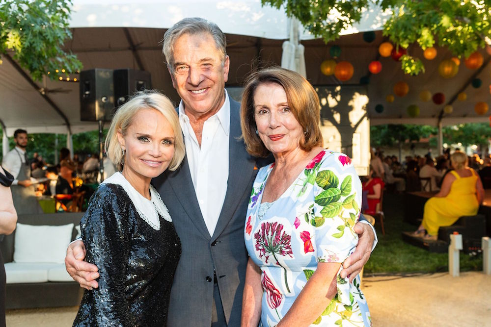 Kristin Chenoweth and Paul and Nancy Pelosi at Arts for All gala