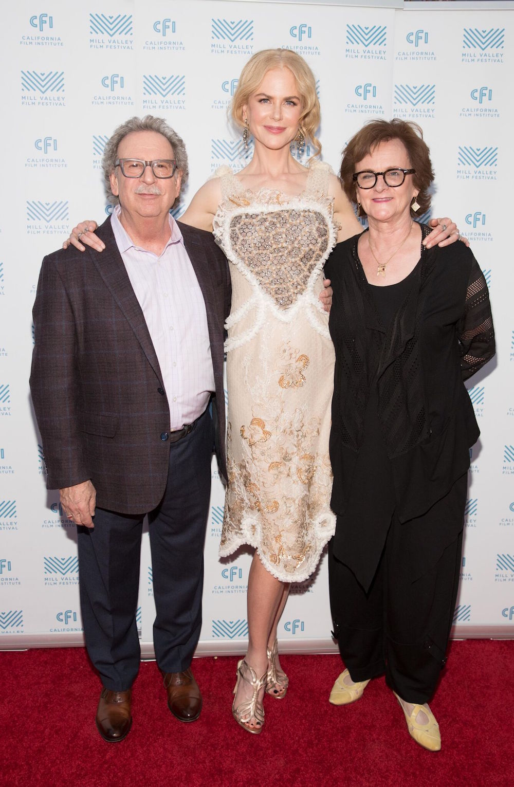 Festival founder Mark Fishkin with Nicole Kidman and Zoë Elton in 2016