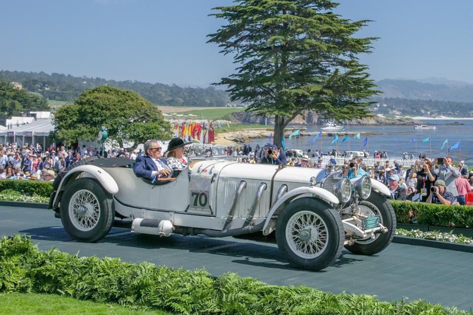 My client Arturo Keller's 1929 Mercedes-Benz 710 SS Barker Tourer race car won First in Class in the Pre-War Preservation category