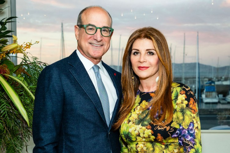 SAN FRANCISCO, CA - October 24 - Victor Makras and Farah Makras attend Yes on Prop A - Sea Wall hosted by Makras Real Estate 2018 on October 24th 2018 at Private Residence in San Francisco, CA (Photo - Arthur Kobin for Drew Altizer Photography)