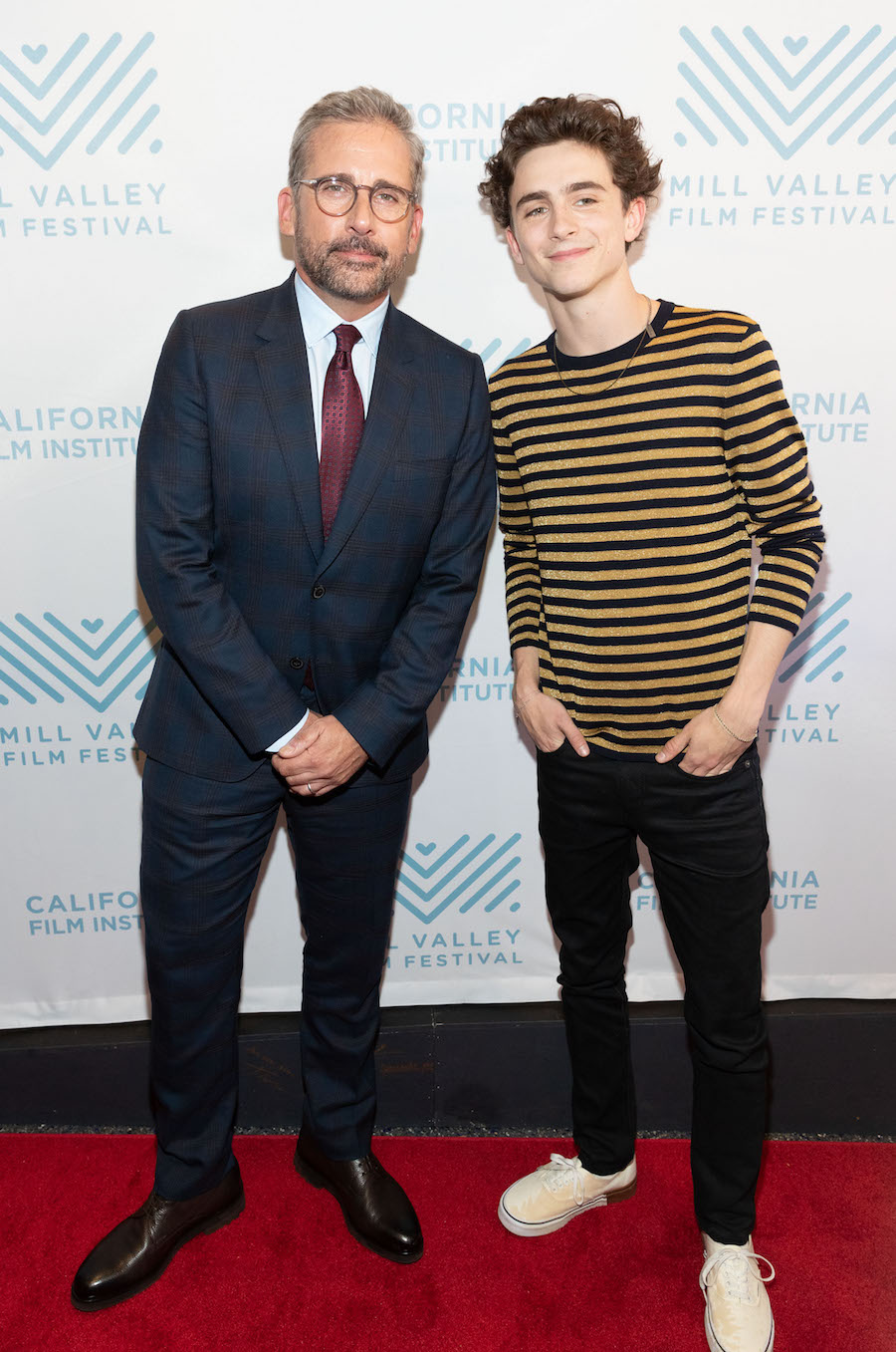 Steve Carell and Timothée Chalamet
