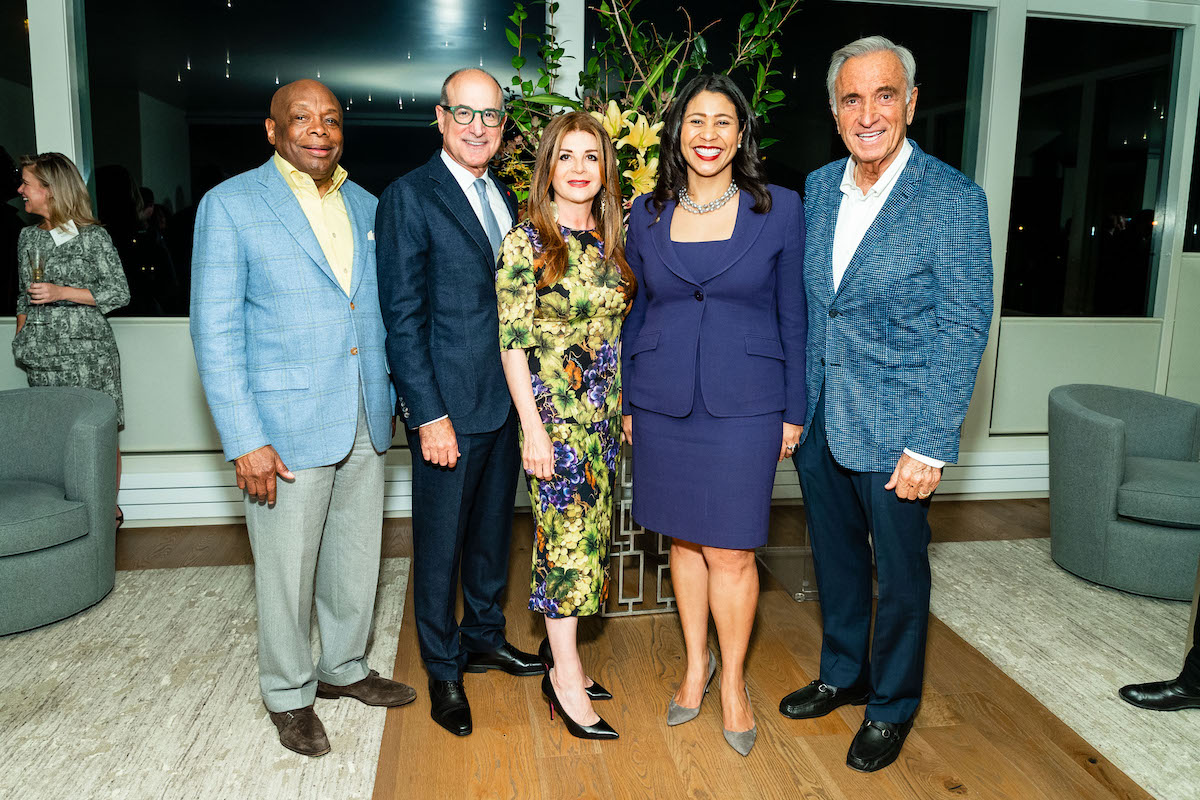 Willie Brown, Victor Makras, Farah Makras, London Breed and Art Agnos