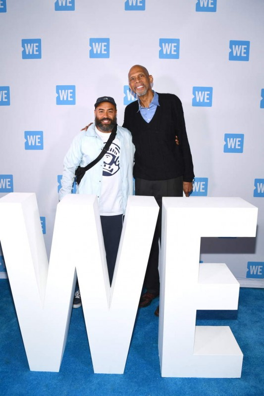HOT97/Beats1 Executive & Host Ebro Darden (L) and Kareem Abdul-Jabbar (R) attend WE Day UN 2018 at Barclays Center on September 26