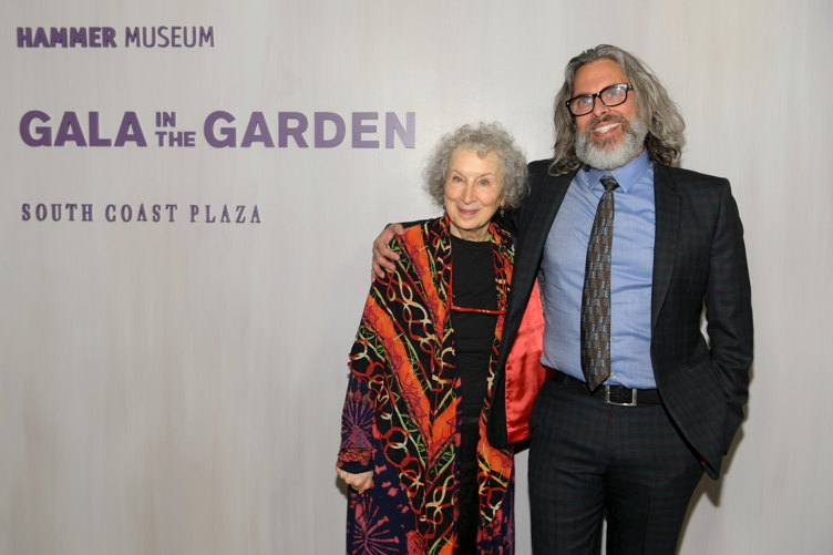Honoree Margaret Atwood (L) and Michael Chabon