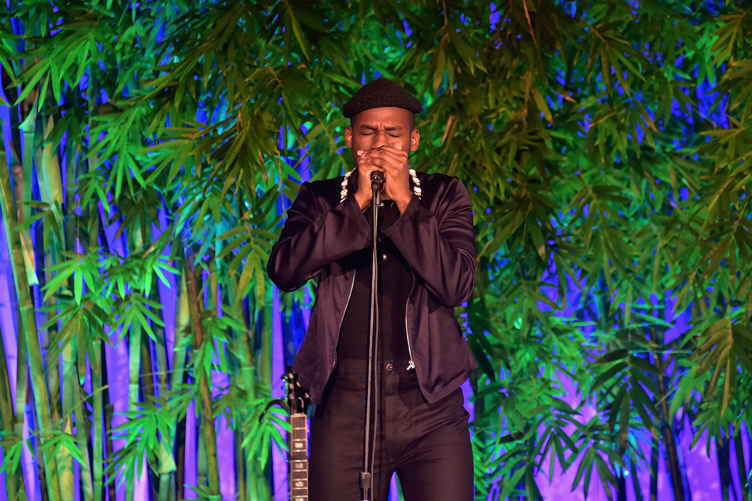 Leon Bridges performs