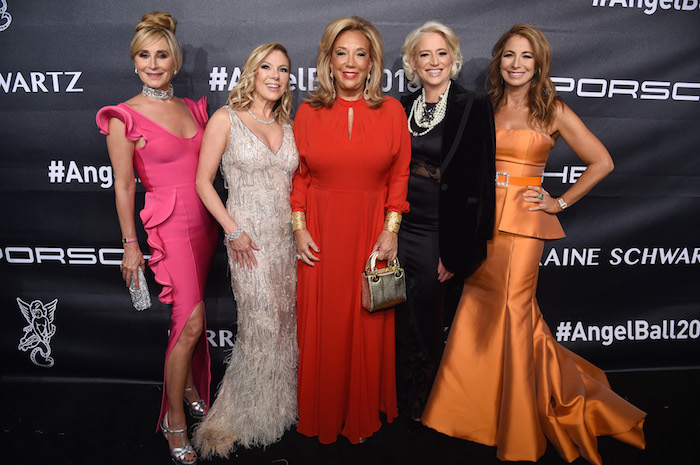 Founder of Gabrielle's Angel Foundation, Denise Rich, Real Housewives of New York City Sonja Morgan, Ramona Singer, and Dorinda Medley, and Personality Jill Zarin attend the 2018 Angel Ball hosted by Gabrielle's Angel Foundation at Cipriani Wall Street on October 22, 2018 in New York City.