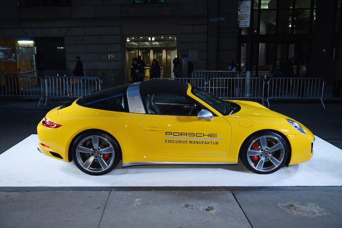 Porsche 911 Speedster at the 2018 Angel Ball hosted by Gabrielle's Angel Foundation at Cipriani Wall Street on October 22, 2018 in New York City.