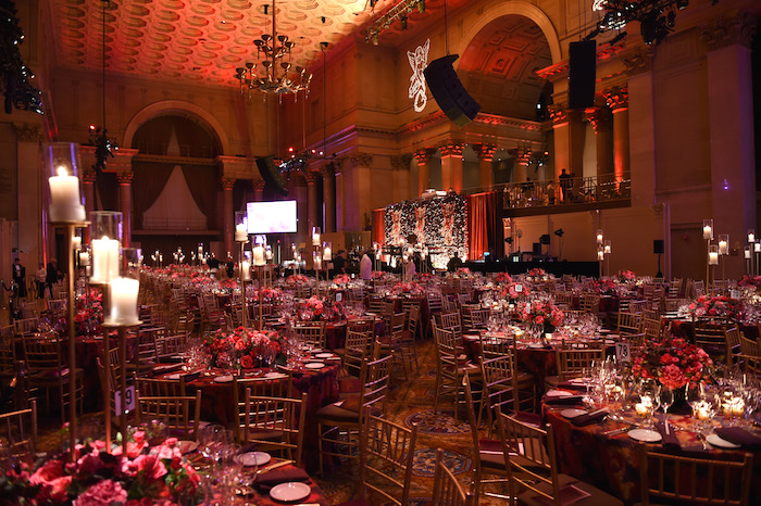 Floral and decor provided by Birch Event Design at the 2018 Angel Ball hosted by Gabrielle's Angel Foundation at Cipriani Wall Street on October 22, 2018 in New York City.