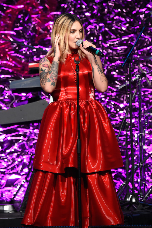 Julia Michaels performs onstage the 2018 Angel Ball hosted by Gabrielle's Angel Foundation at Cipriani Wall Street on October 22, 2018 in New York City.