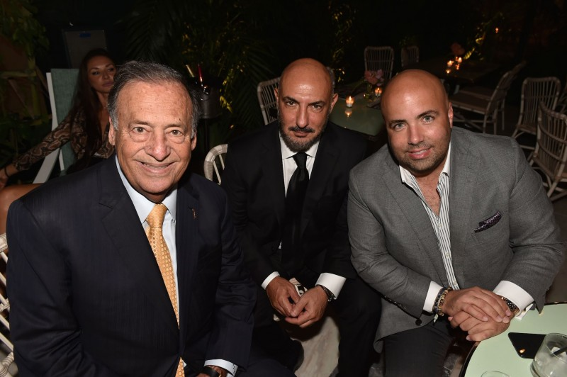 MIAMI, FL - OCTOBER 25: Jeff Berkowitz, Gary Nader, and Louis Garcia-Fanjul attends Haute Living's Haute 100 10th Anniversary Party at Swan Miami on October 25, 2018 in Miami, Florida. (Photo by Romain Maurice/Getty Images for Haute Living)