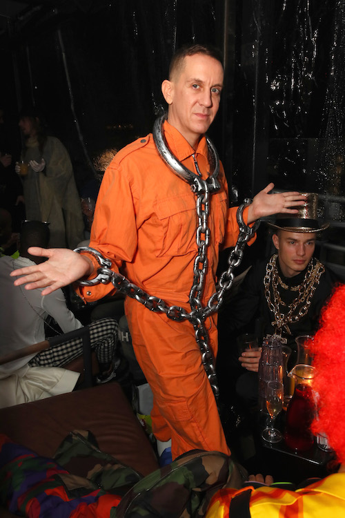 Jeremy Scott arrives at The Misshapes Halloween party hosted by Ketel One Family-Made Vodka on October 27, 2018 in New York City.