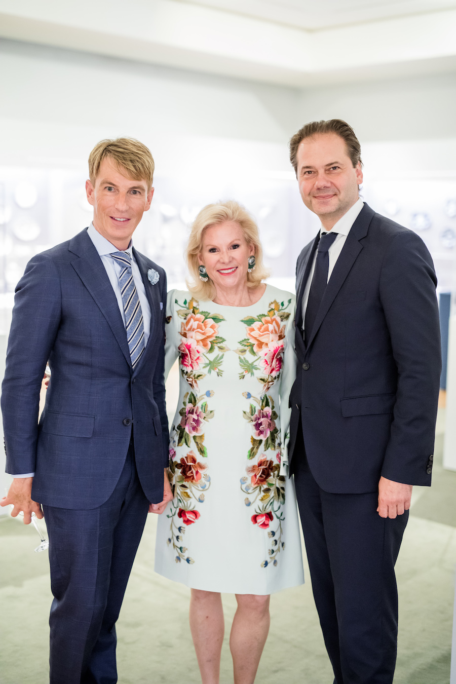 """Jack Calhoun, Dede Wilsey and Max Hollein at donor reception for """"Truth and Beauty: The Pre-Raphaelites and the Old Masters"""" earlier this year"""