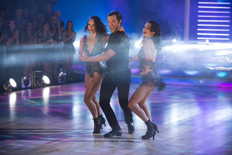"Cheryl Burke, Di Pace and Melissa Rycroft on ""Trios"" night"
