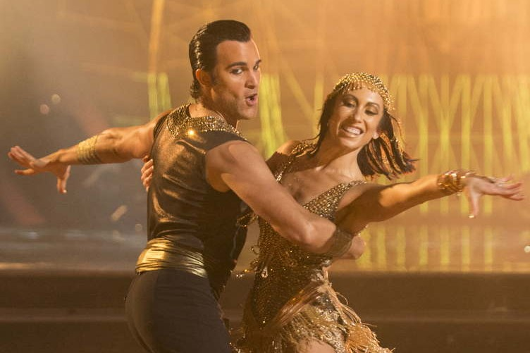 "Di Pace and Cheryl Burke on ""Halloween""night"