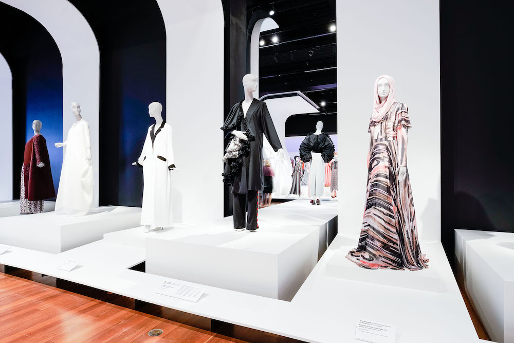 Contemporary Muslim Fashions is the current exhibit at the de Young