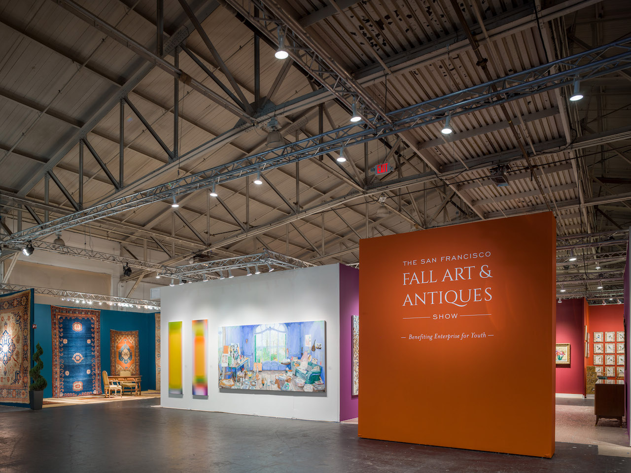 The entrance to last year's San Francisco Fall Art & Antiques Show