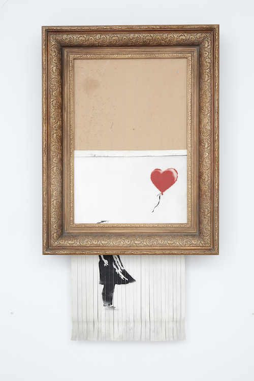 Bansky, Love is in the Air, 2018. Sold for £1,042,000