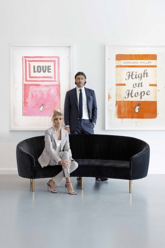 Petra Ecclestone and Gallery Director Sam Palmer