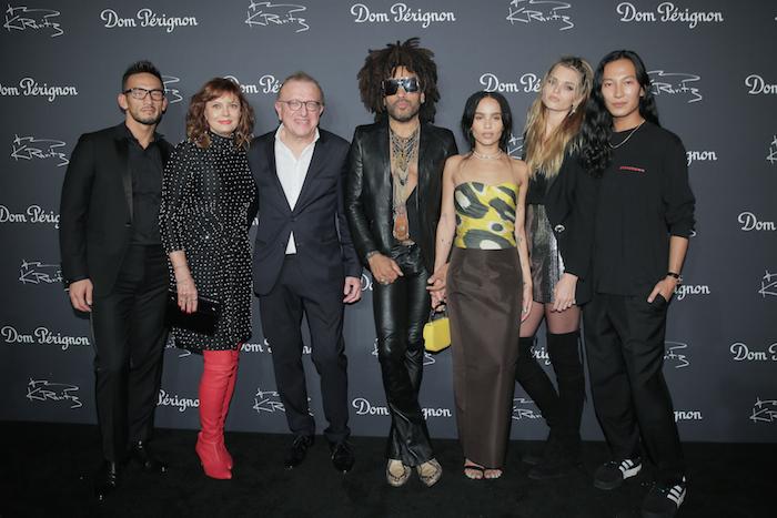 Hidetoshi Nakata, Susan Sarandon, Richard Geoffroy, Lenny Kravitz, Zoe Kravitz, Abbey Lee Kershaw, Alexander Wang