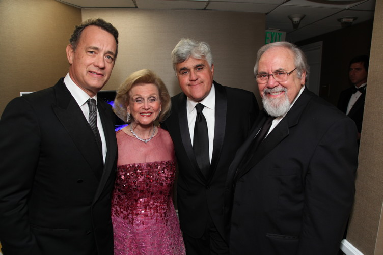 Tom Hanks, Davis, Jay Leno and George Schlatter