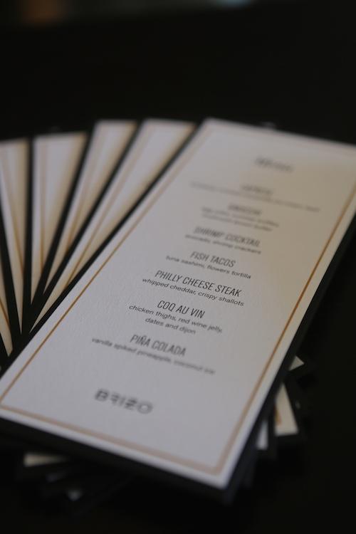 Michael Voltaggio x Brizo menu