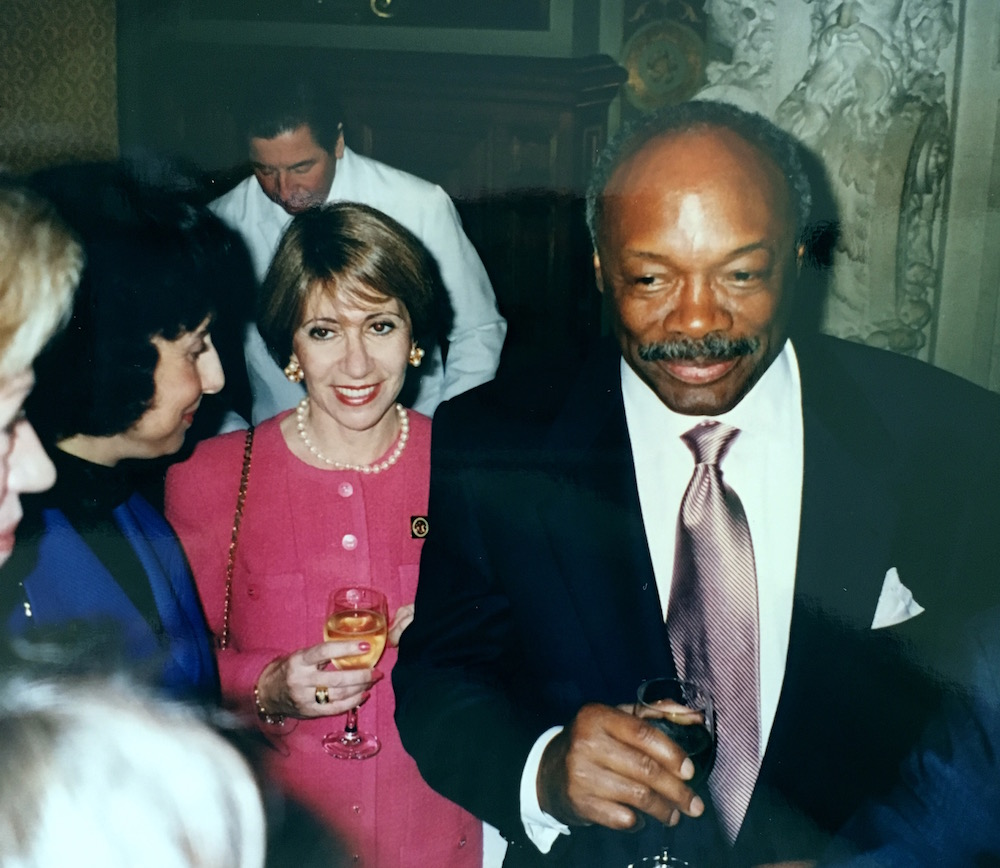 In 1996, Blackburn was a part of the delegation to establish the San Francisco-Paris sister city agreement. Here she is with then Mayor Willie Brown at Paris' City Hall.