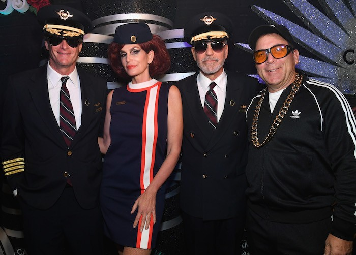 Rande Gerber, Cindy Crawford, George Clooney and Mike Meldman attend Casamigos Halloween party at CATCH Las Vegas at ARIA Resort & Casino on October 27, 2018 in Las Vegas, Nevada.