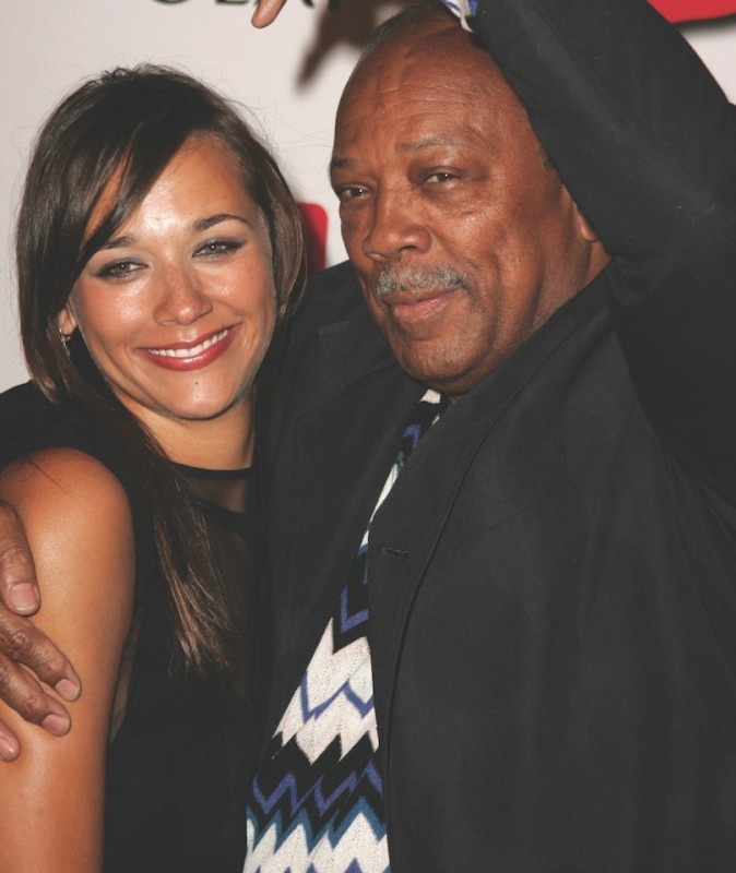 Quincy and Rashida Jones in 2006