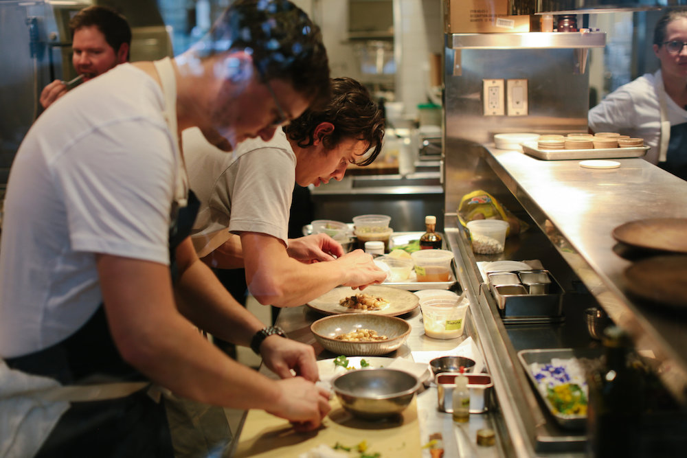The chefs in the kitchen