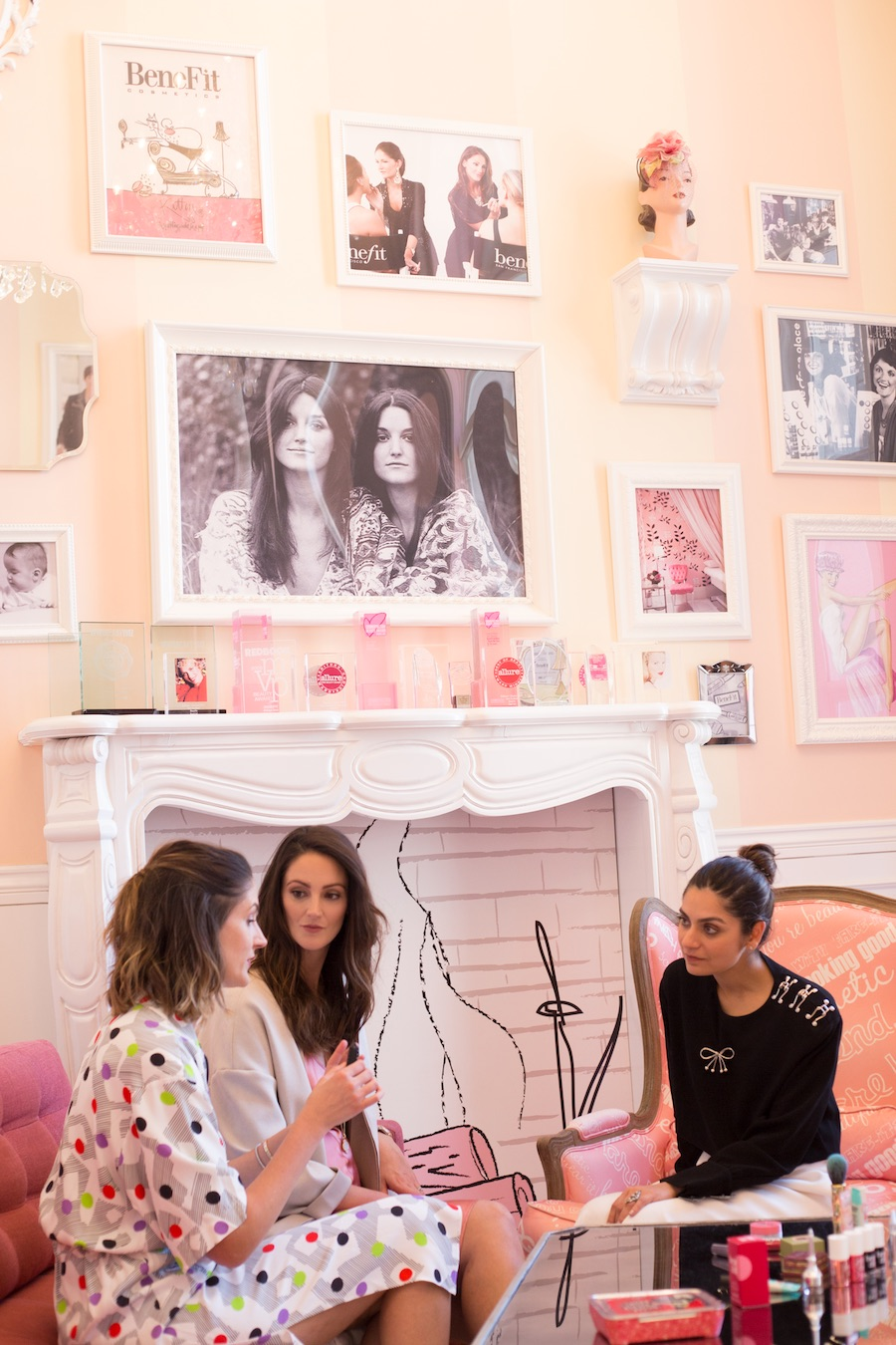 Inside Benefit's headquarters