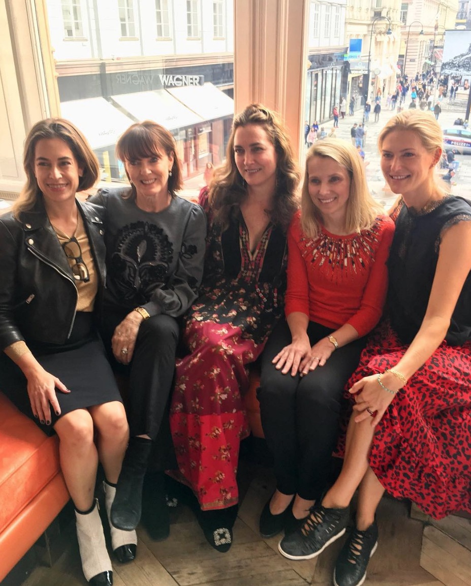 Alison Pincus, Allison Speer, Alexis Traina, Marissa Mayer, and Alicia Engstrom in Austria